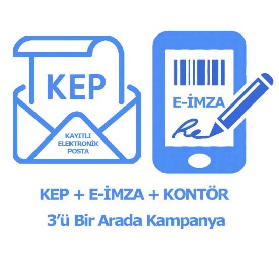 KEP & E-İMZA & 50 KONTÖR 3'ü Bir Arada (3 YIL)