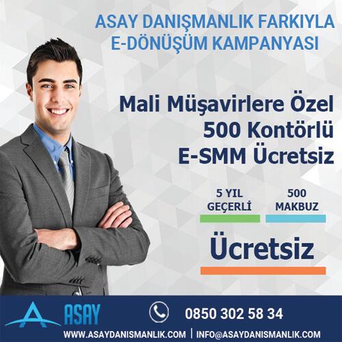 Mali Müşavirlere Özel 500 Kontörlü E-SMM Ücretsiz